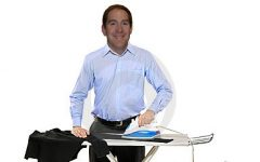 DISCLAIMER: This is not an actual picture of Mr. Hesse ironing.