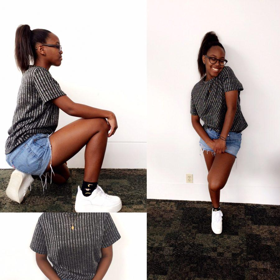 Name: Maici Williams   Top: Grrandmother's   Bottom: Levi's    Shoes: Steve Madden   Grade: 11th  Inspiration: