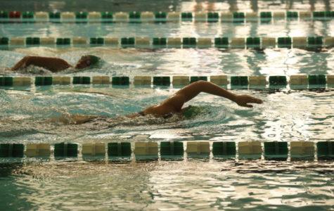 The newman swim team earlier this season