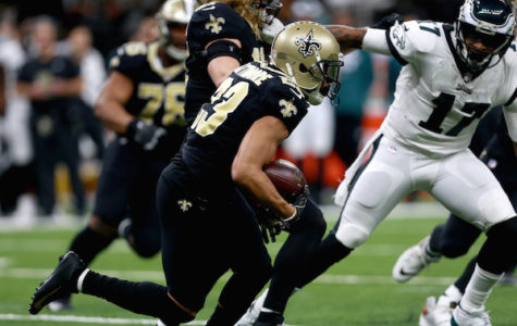 NEW ORLEANS, LOUISIANA - JANUARY 13:  Marshon Lattimore #23 of the New Orleans Saints intercepts the ball late in the fourth quarter against the Philadelphia Eagles in the NFC Divisional Playoff Game at Mercedes Benz Superdome on January 13, 2019 in New Orleans, Louisiana. (Photo by Sean Gardner/Getty Images)