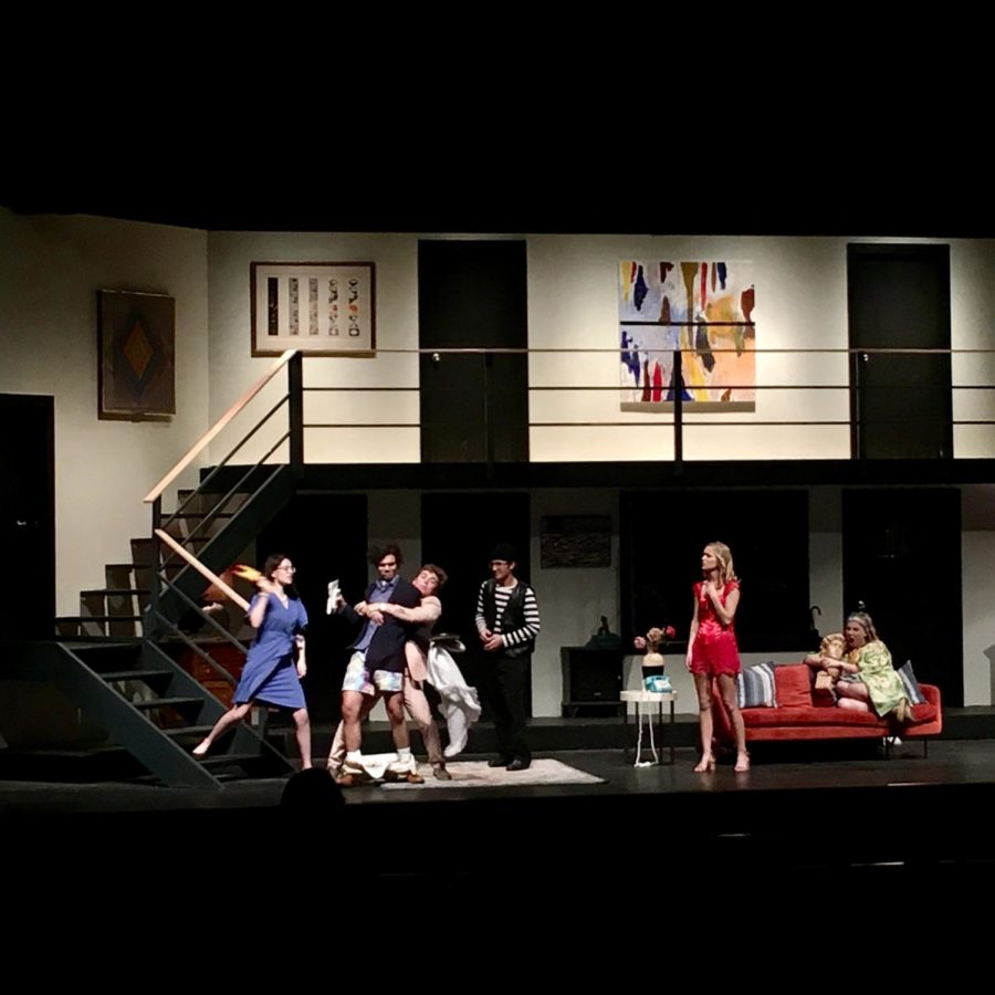From+left+to+right%2C+Elly+Patron%2C+John+Blake+Zatezalo%2C+Jackson+Haber%2C+Liam+French%2C+Margot+Roussel%2C+and+Aubrey+Whitaker+in+a+scene+from+%22Noises+Off%22+at+the+Henson+Auditorium.