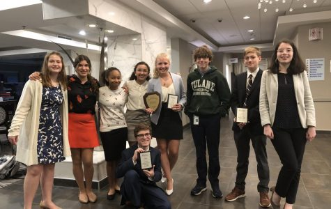 The Speech and Debate team at the Congressional National Qualifying Tournament