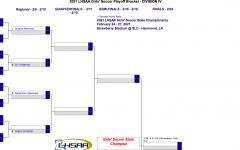 The Newman Girls' Team side of the bracket.